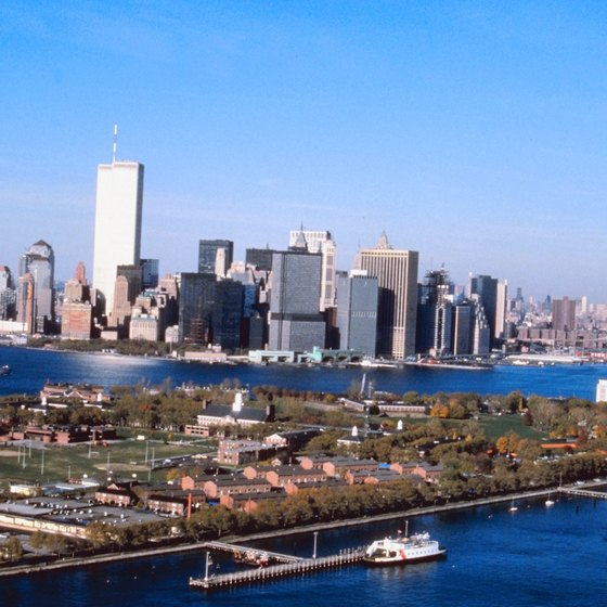 Governors Island is only to the public only at the north and south ends of the island.