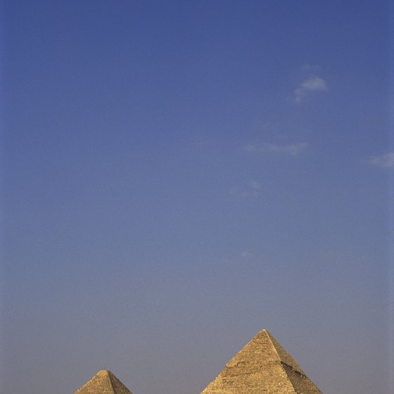 Egypt's pyramids have attracted generations of tourists.