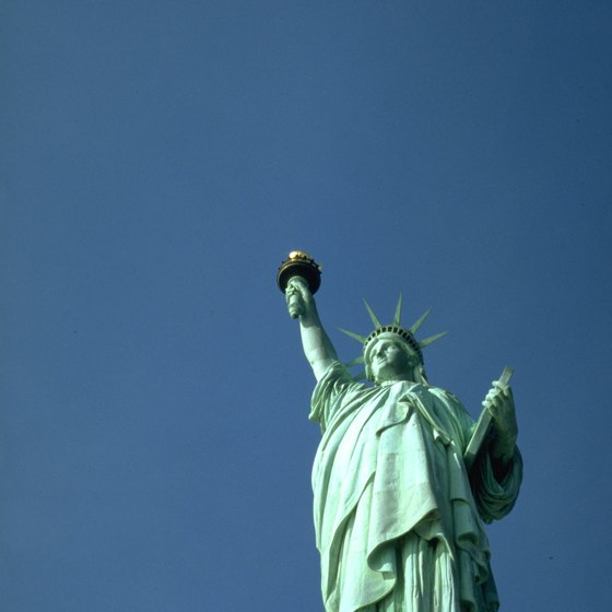 The Statue of Liberty is accessible by ferry service from New York and New Jersey.