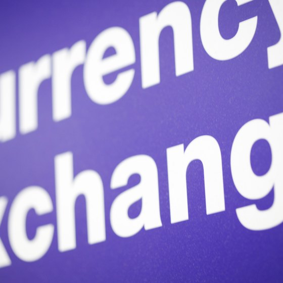 Exchanging currency often requires paying a transaction fee.