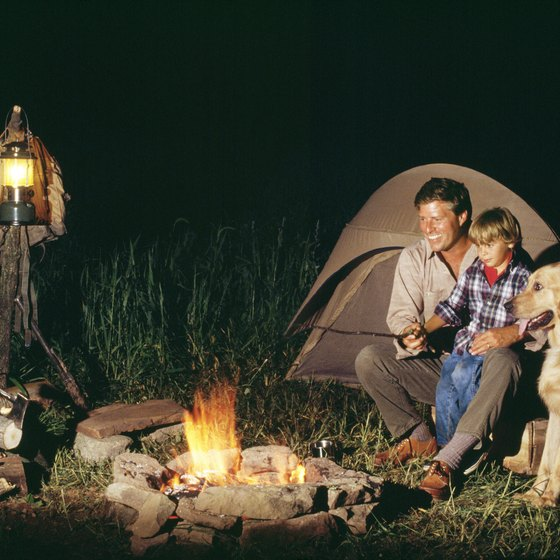 Tent camping is an enjoyable activity for families.