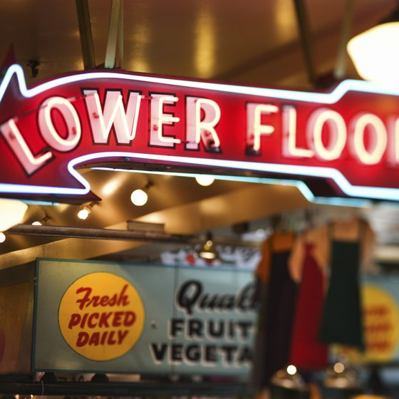 Pike Place Market offers free fun on a Friday in Seattle.