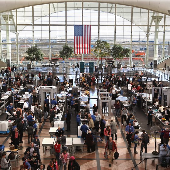 International travelers must allow time to pass through the TSA security checkpoint.