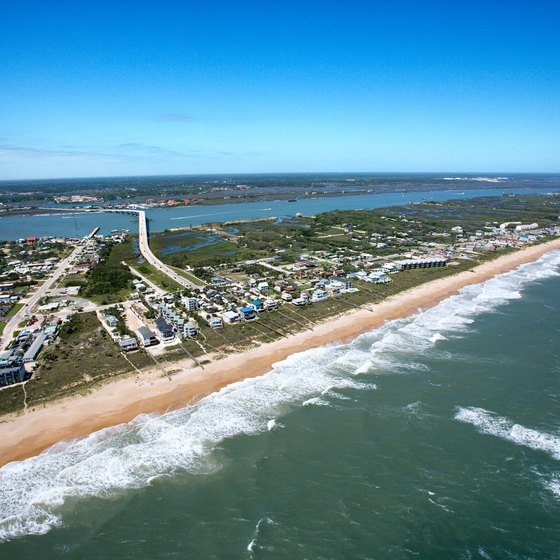 Aerial view of St. Augustine Beach.