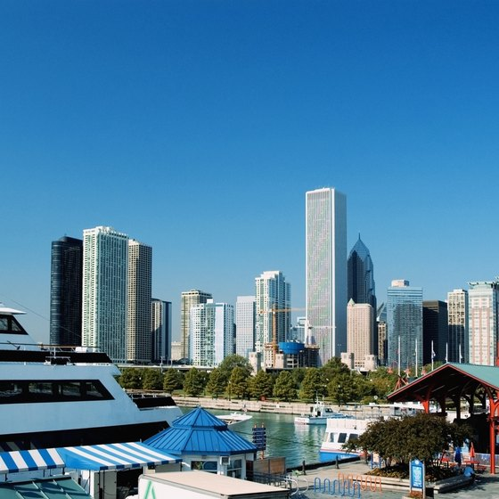Many Lake Michigan cruises depart from Chicago's Navy Pier.