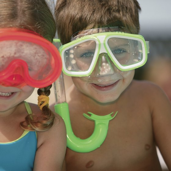 Snorkeling can be a fun activity for both children and adults.