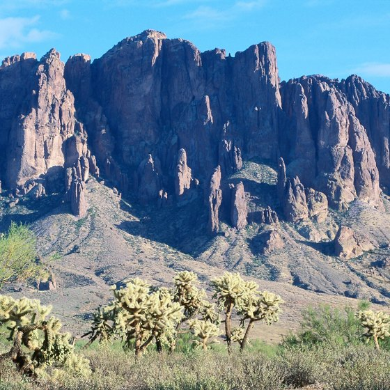 The Superstition Mountains are located just outside Mesa, Arizona.