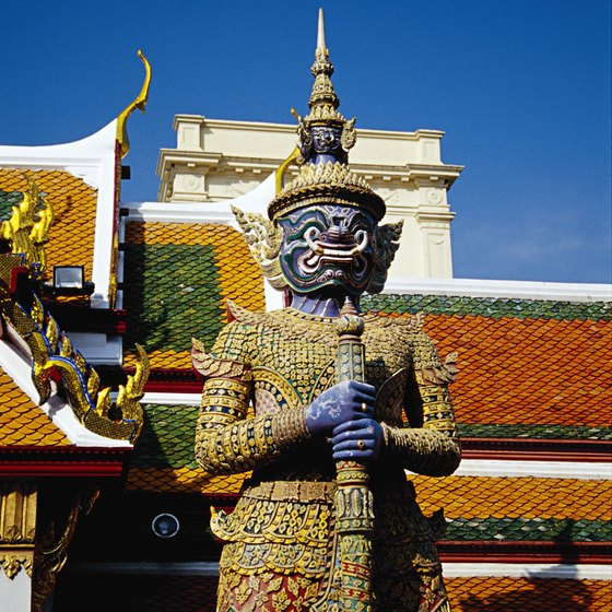 The Royal Palace in Central Bangkok is sweltering in the summer.