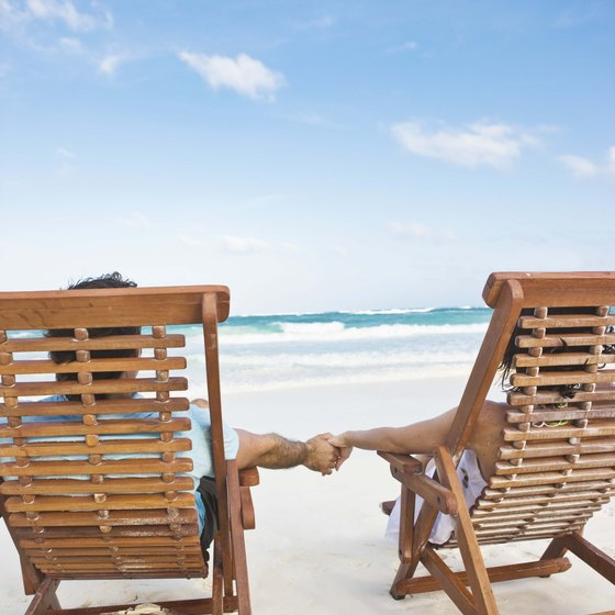Beachside resorts provide quiet time with a romantic partner.