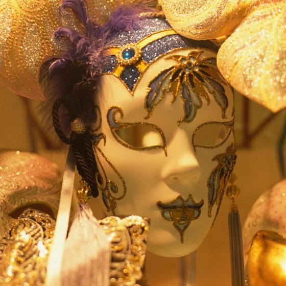 Wearing elaborate masks is a major part of the Venetian Carnival celebration.