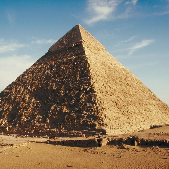 Travel from Alexandria, Egypt, to the Great Pyramids at Giza.