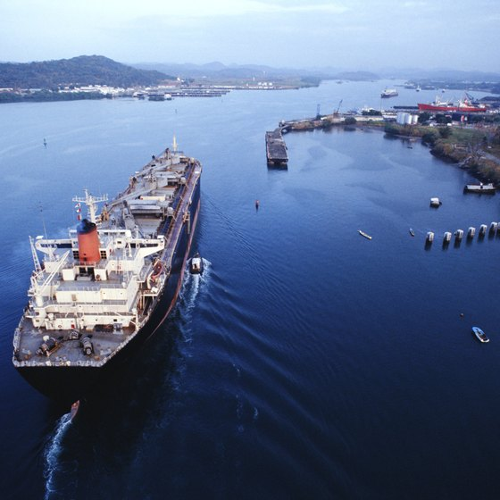 Traversing the entire Panama Canal takes about eight hours on a cruise ship.