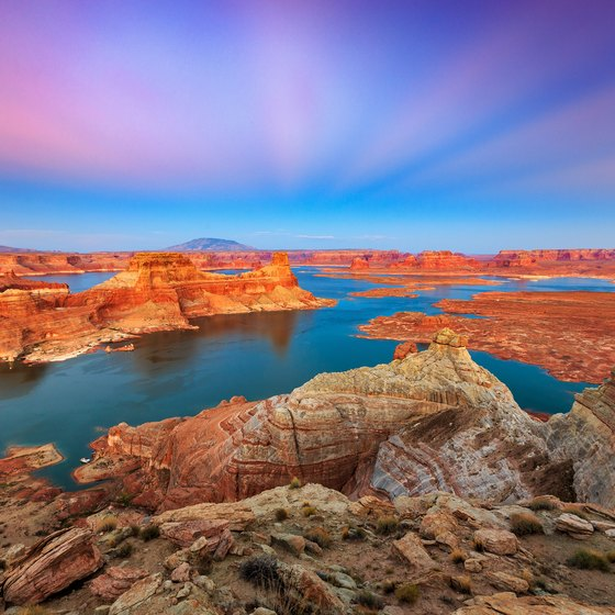 Sandy Beaches in Lake Powell, Utah