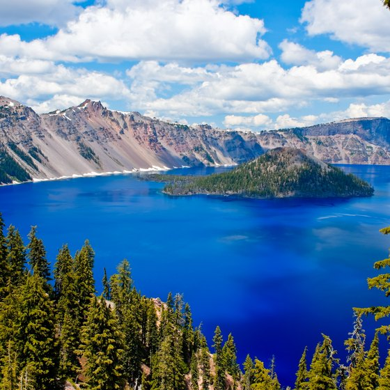 Location of Crater Lake National Park