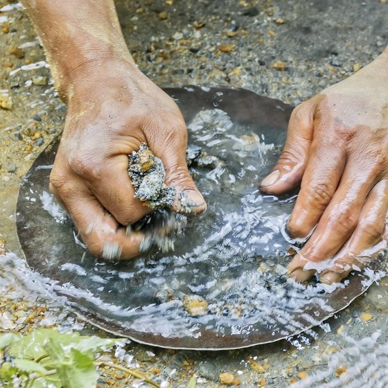 Gold Panning in Yellowstone