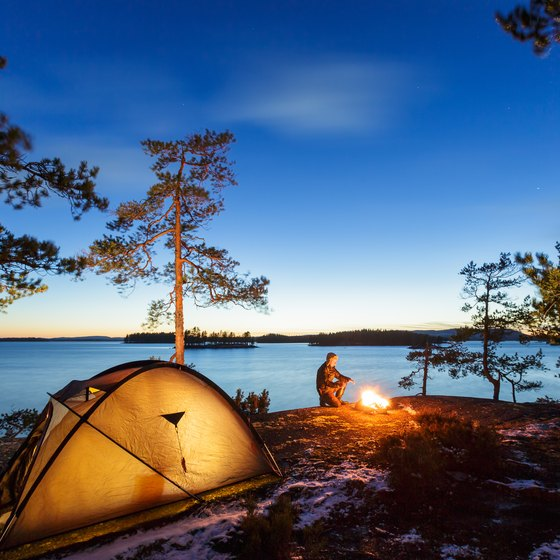 Camping at Lake Juliette in Georgia
