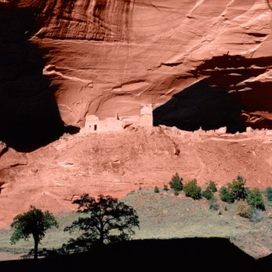 Canyon de Chelly is one of several ancient cliff dwellings located in Arizona.