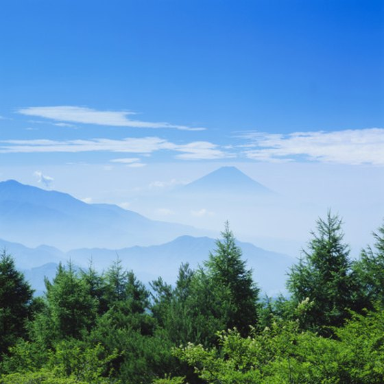 Mount Fuji is one of Japan's many mountains.
