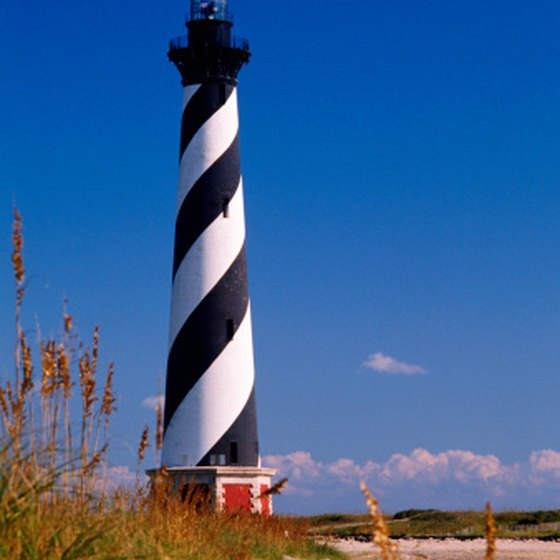 The lighthouses along North Carolina's Outer Banks draw many visitors.