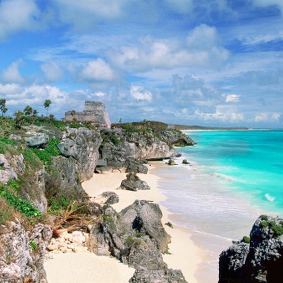 The coast south of Akumal hosts the famous Mayan pyramid complex of Tulum.