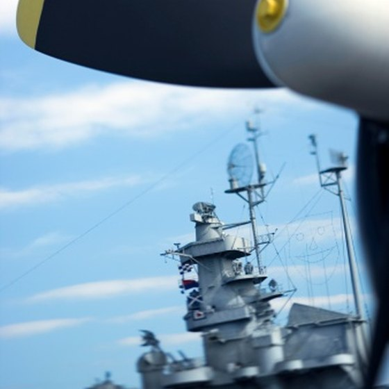 Attractions in southern Alabama include a museum with a battleship and military aircraft.