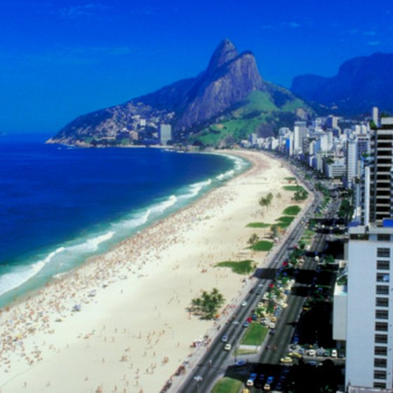 The Brazilian Highlands meet the ocean in Rio de Janeiro.