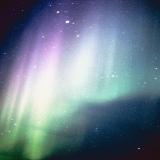 The northern lights are visible in northern Canada in March.