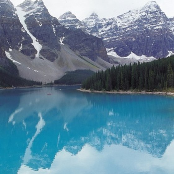 Glaciers, which you can still see in the park, formed the brilliantly colored lakes in Banff.