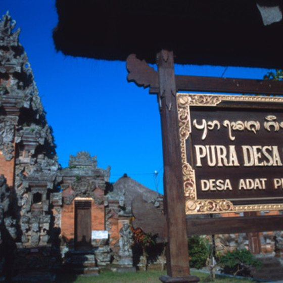 Bali's mountain temples are most photogenic in July and August when the skies are clear.