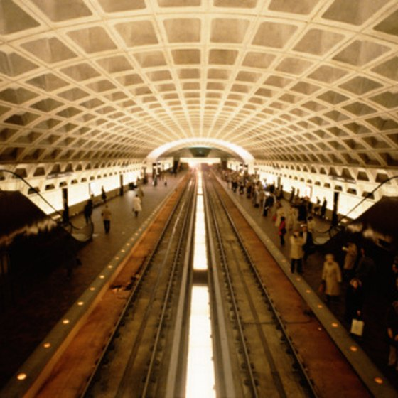 The blue and red lines serve the D.C. area's Rosslyn Metro station.