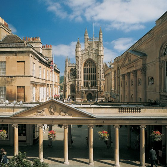 Visitors come from all over the world to the spas in Bath.