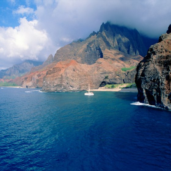 Kauai's Napali Coast is a prime snorkeling destination.