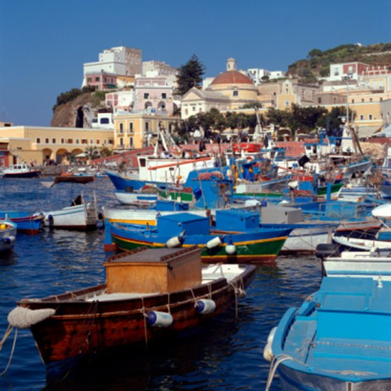 South of Rome you'll find beautiful beaches that lead to quaint harbors.