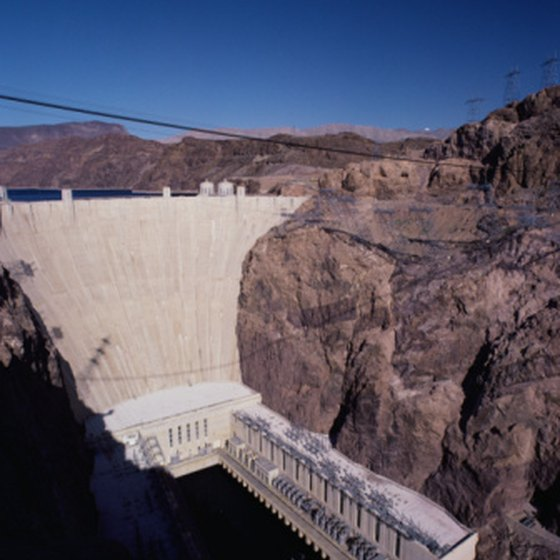 The massive Hoover Dam offers an interesting attraction outside of Las Vegas.