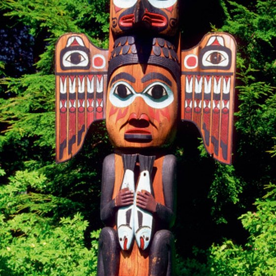 Totem poles are found in several locations in Ketchikan.