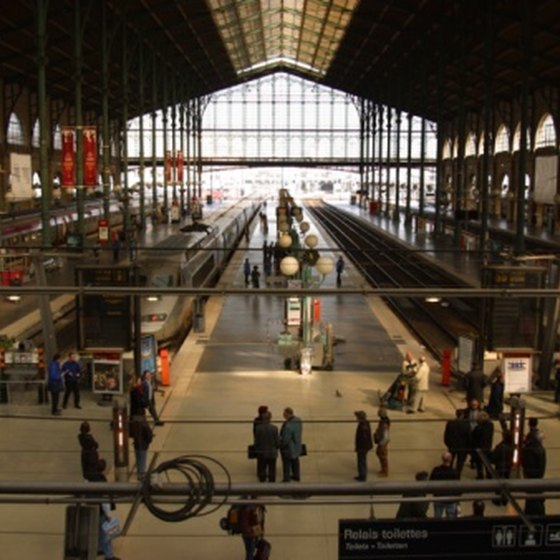 Catch your train to Amsterdam in a stylish Paris train station.