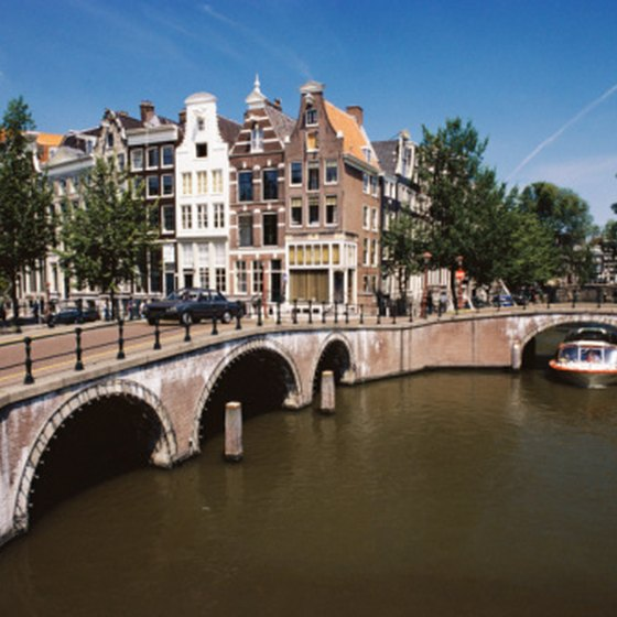 Amsterdam is a city of canals and flat boats.