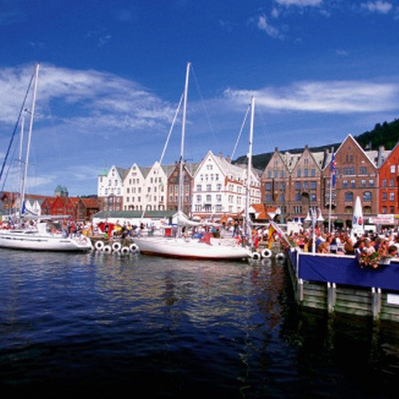 Hurtigruten cruises operate year-round from the port city of Bergen, Norway.