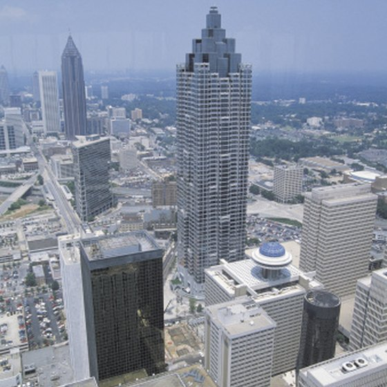 Atlanta is a popular destination for visitors to Georgia.