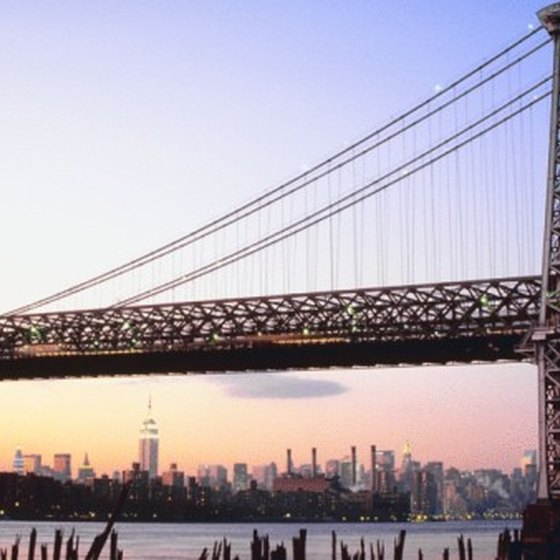 The Williamsburg bridge connects the Williamsburg area to Manhattan's Lower East Side.