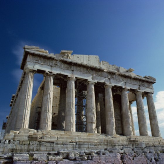 The Temple of Athena near Athens is one of Greece's best-known tourist attractions.