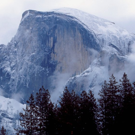 Half Dome is one of the most famous landforms in Yosemite Valley.
