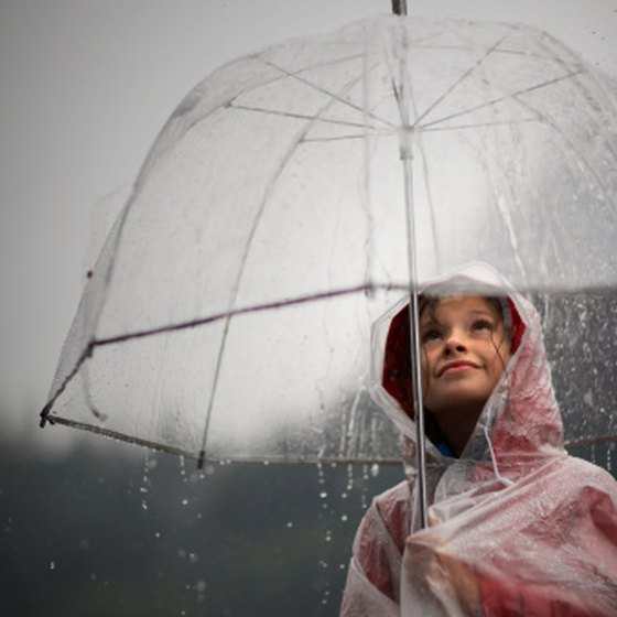 Bring rain gear to Disney World in March.