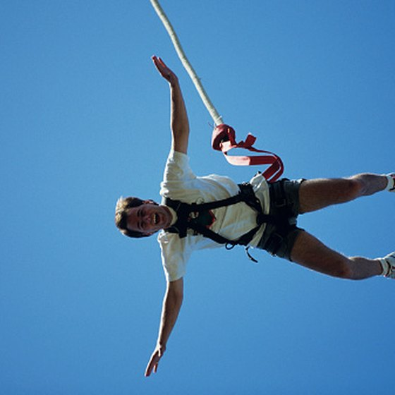 Traditional bungee jumping is not available in Orlando, but bungee slingshots provide a similar sensation.