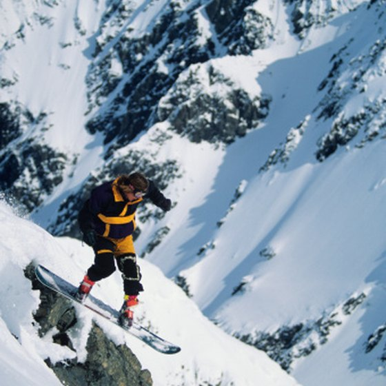 The Chugach Mountains near Girdwood offer winter skiing and snowboarding.