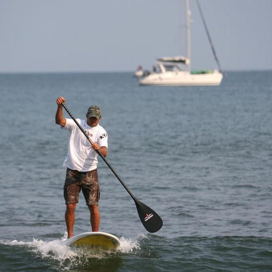 Hawaii's Laird Hamilton has helped to popularize the resurgence of paddle boarding.