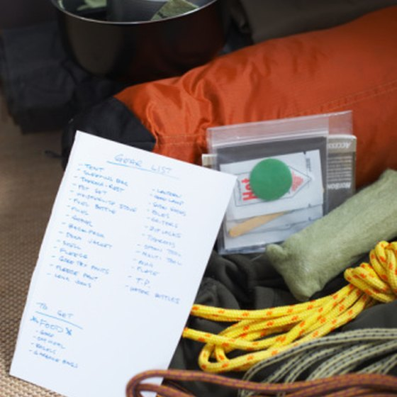 Consulting a list can help you avoid overpacking.