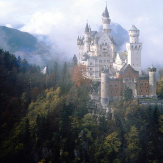 Neuschwanstein Castle in Germany is a fantasy castle.