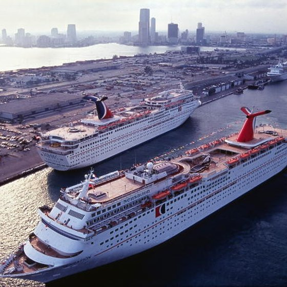 Miami and Fort Lauderdale are popular departure points for short cruises to the Bahamas.