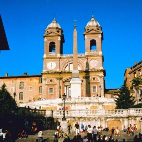 Rome's Spanish Steps usually are filled with people.